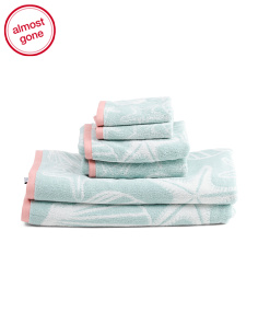 6pc Stars And Shells Towel Set