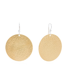 Made In Turkey Sterling Silver Vermeil Flake Earrings