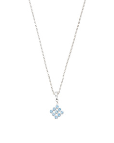Made In Turkey Sterling Silver Blue Topaz Matrix Necklace