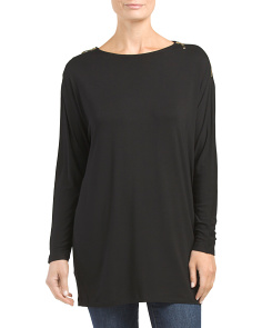 Dolman Sleeve Zipper Top
