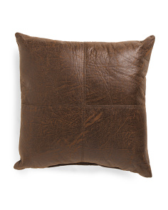 17x17 Faux Leather Pillow