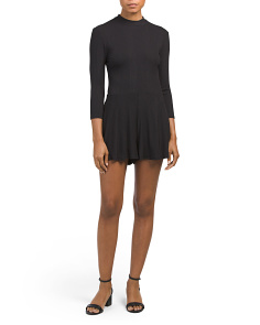 Juniors Mock Neck Romper
