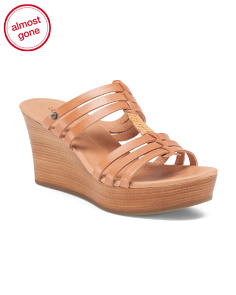 Mattie H Band Leather Wedges
