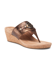 Briella Leather Wedges