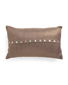 12x20 Small Shell Button Pillow