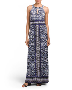 Persian Medallion Halter Maxi Dress