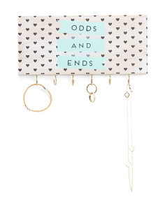 Odd & Ends Wall Jewelry Organizer