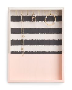 Striped Wall Jewelry Organizer