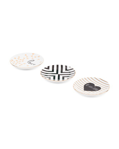 Set Of 3 Love Trinket Trays