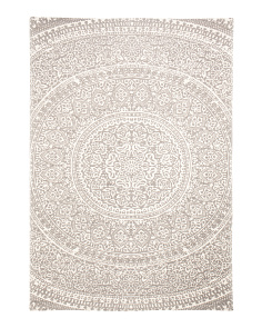 Made In India 5x7 Braided Medallion Rug