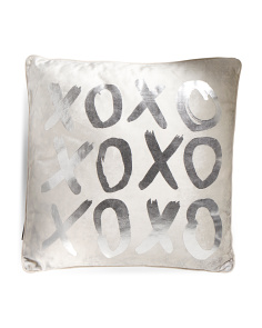 18x18 Velvet XOXO Pillow