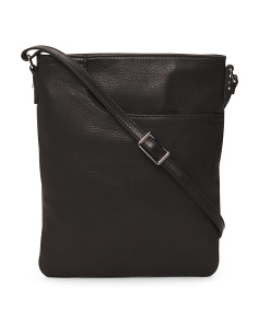 Leather Crossbody With Front Pocket