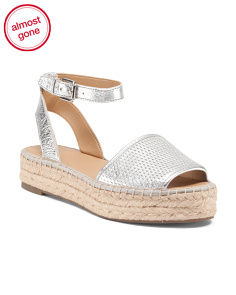Ravenna Flat Leather Espadrilles