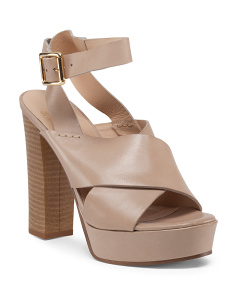 Valera Platform Leather Sandals
