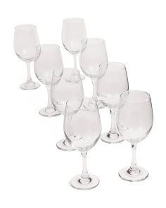 8pc Xl White Wine Glass Set