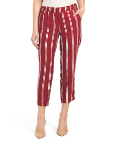 Juniors Made In Usa Striped Crop Pants