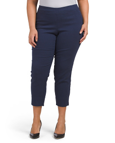 Plus Jacquard Texture Stretch Pants