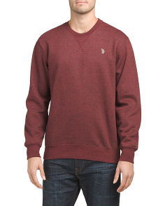 Crew Neck Fleece Pullover Sweater
