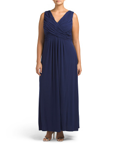 Plus V Neck Gown