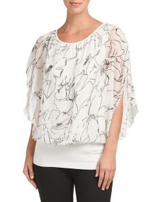 Made In Italy Silk Print Top