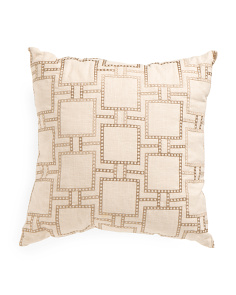 20x20 Embroidered Geometric Pillow