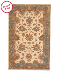 Made In India Wool Traditional Area Rug