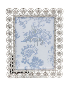 5x7 Amelia Jeweled Metal Frame