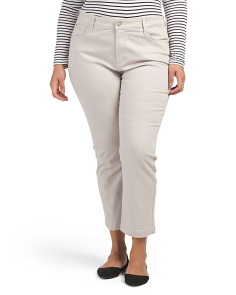 Plus Audrey Ankle Twill Pants