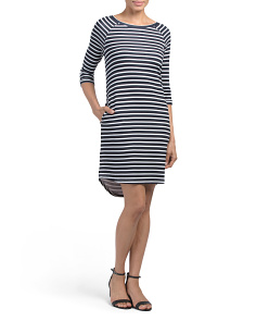 Three Quarter Raglan Sleeve Dress