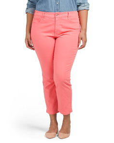 Plus Audrey Twill Ankle Pants
