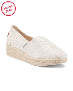 Espadrille Slip On Shoes