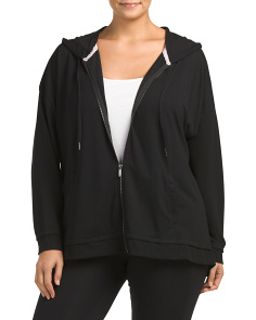 Plus Active French Terry Zip Jacket