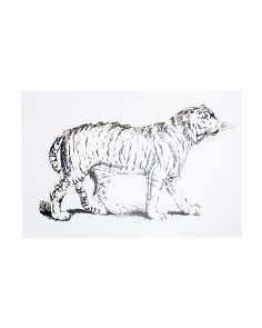 36x54 Gilded Tiger Wall Art