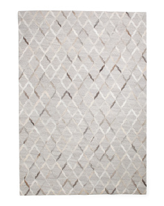 Made In India 5x8 Hand Stitched Animal Hide Area Rug