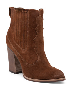 Conway Western Chunk Suede Booties