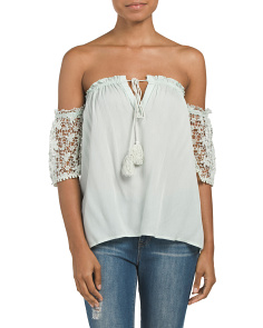 Saba Off The Shoulder Crochet Top