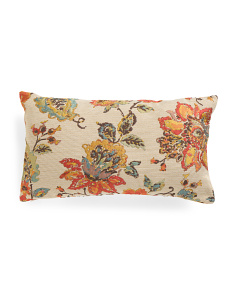 14x24 Wild Flower Jacquard Pillow