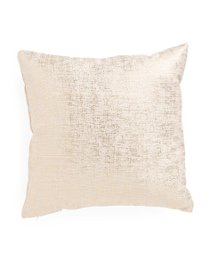 20x20 Gold Metallic Pillow