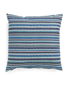 Made In USA 22x22 Chenille Contemporary Pillow