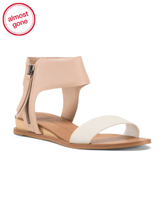 Leather Ankle Cuff Sandals