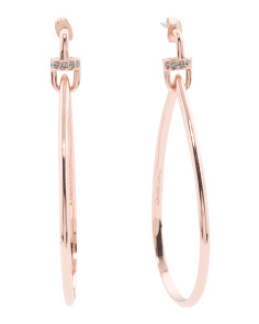 Made In Usa Cece Large Teardrop Earrings