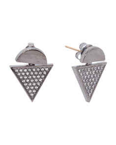 Made In USA Swarovski Half Circle Triangle Ear Jackets