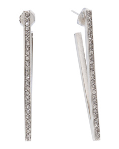 Made In USA Swarovski Crystal Veronica V Earrings