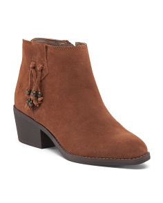 Havana Suede Booties With Beads