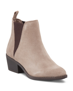 Hammond Suede Booties With Goring