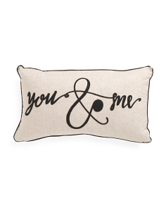 14x24 You And Me Pillow