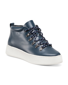 Leather Mid Top Sneakers