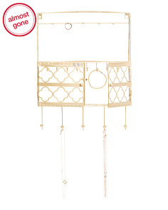 Iron Wall Jewelry Holder With Hooks