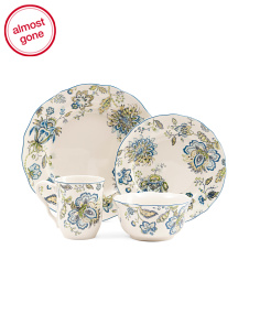 32pc Winter Floral Dinnerware Set