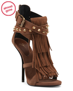 Made In Italy Fringed Suede Heels